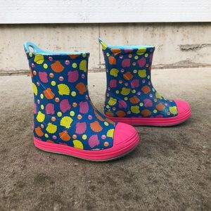Crocs Bump It Shell Printed Rain Boots Toddler 9